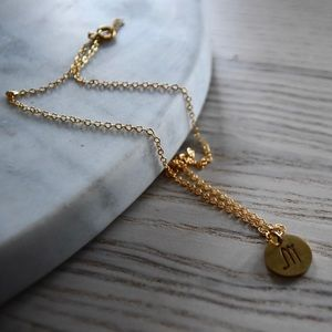 Scorpio Astrology Gold Necklace